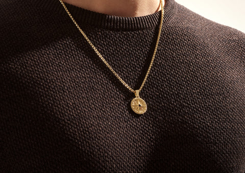 Compass Necklace in Gold