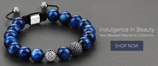 Atolyestone mens beaded bracelet
