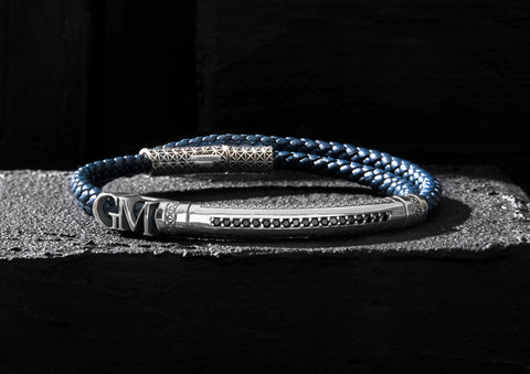 Personalized Leather Wrap Bracelet with Letters
