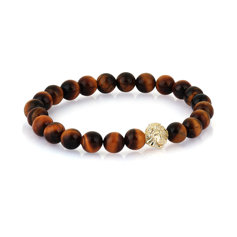 Leo Beaded Bracelet - Tiger Eye