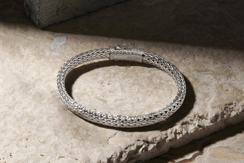 925 Sterling Silver Classic Woven Chain Bracelet