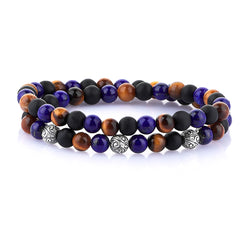 MAYFAIR DOUBLE BEADED BRACELET FOR MEN