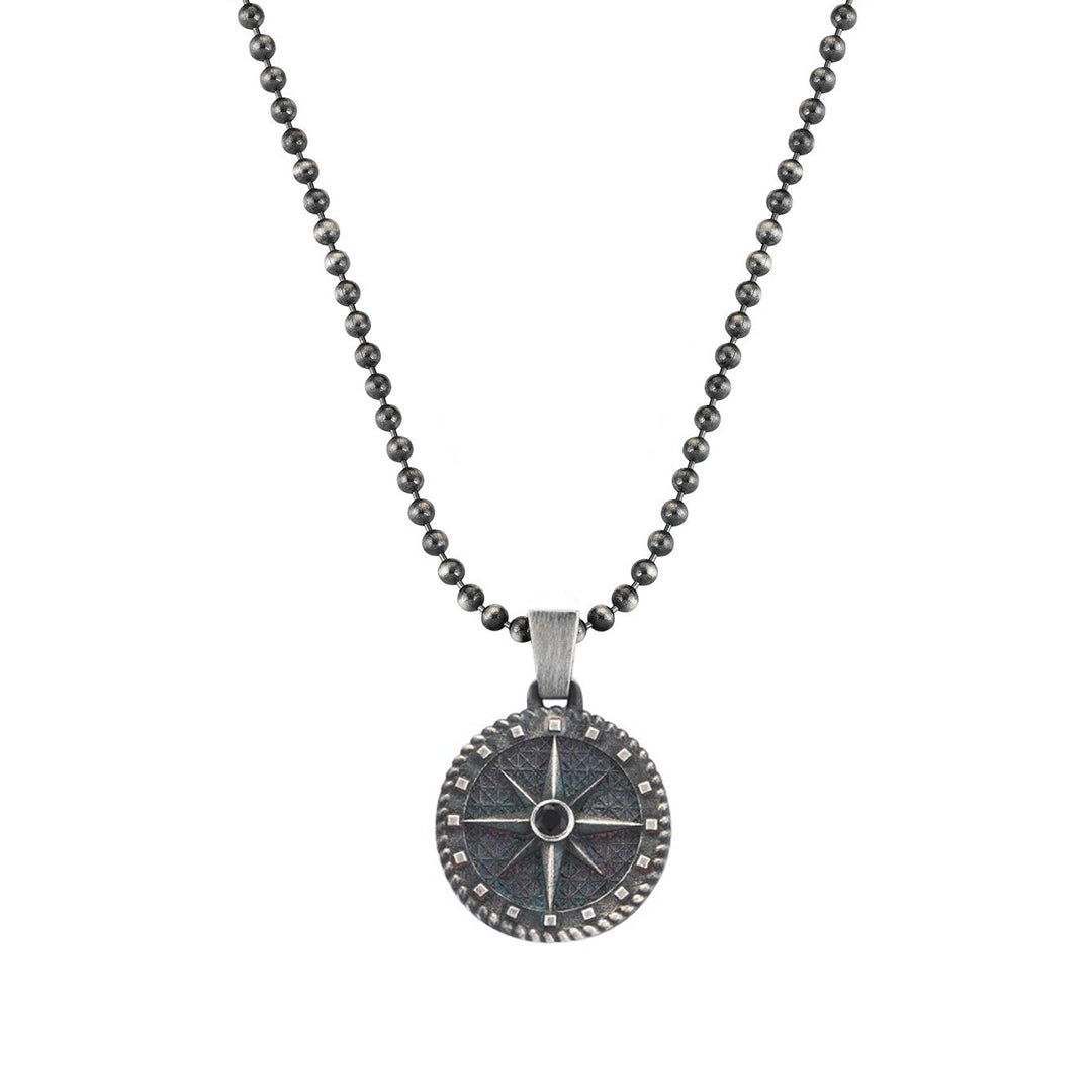 Compass Necklace - Solid Silver  (Pendant Only)