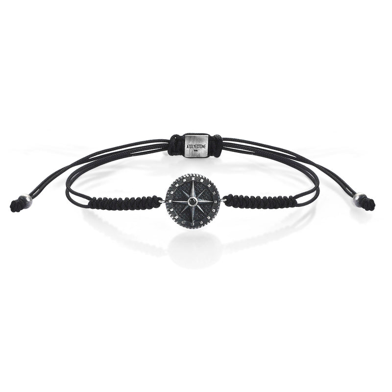 Compass Solitaire Macrame - Black