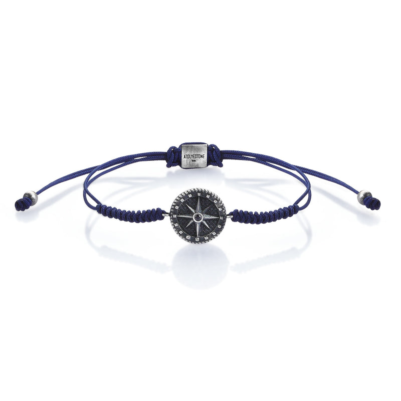 Compass Solitaire Macrame - Navy