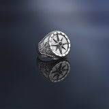 Compass Ring - Solid Gold