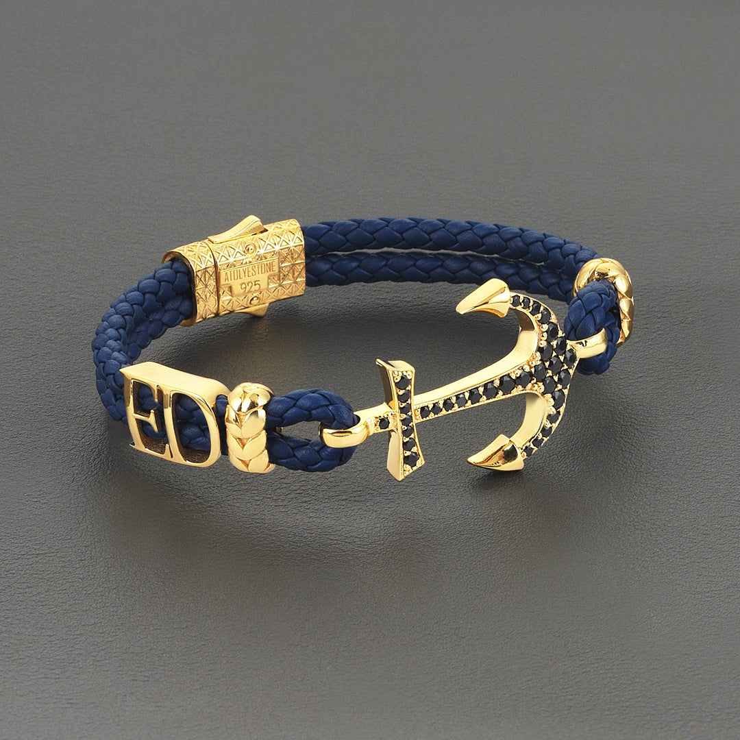 Statements Anchor Leather Bracelet