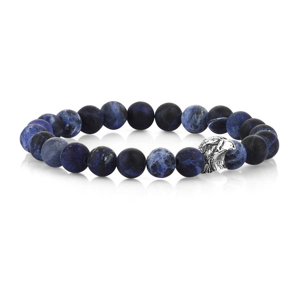 Mens Zenith Eagle Beaded Bracelet - Sodalite