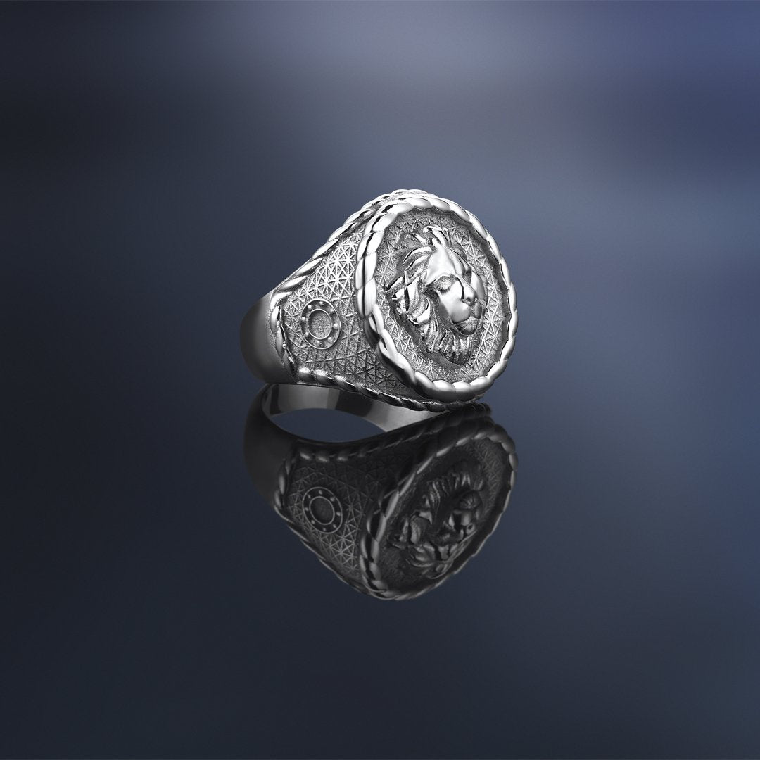 Imperial Leo Ring - Solid Silver