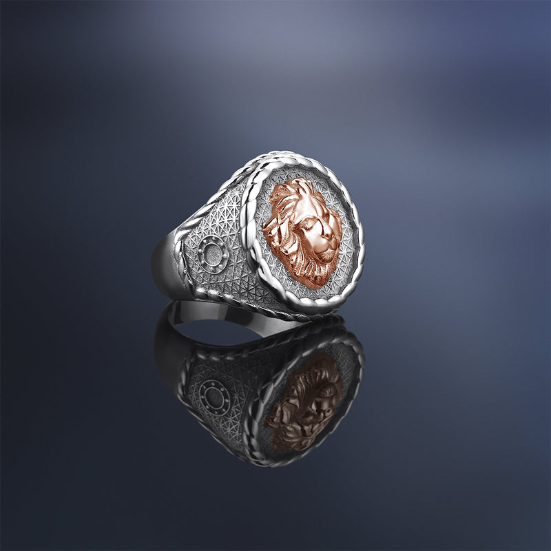 Imperial Leo Ring With Solid Gold for Men