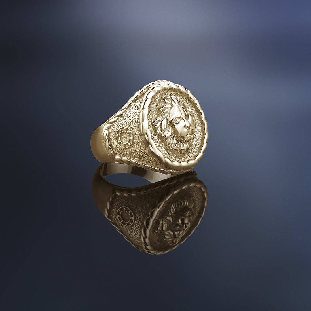 Imperial Leo Ring - Solid Gold