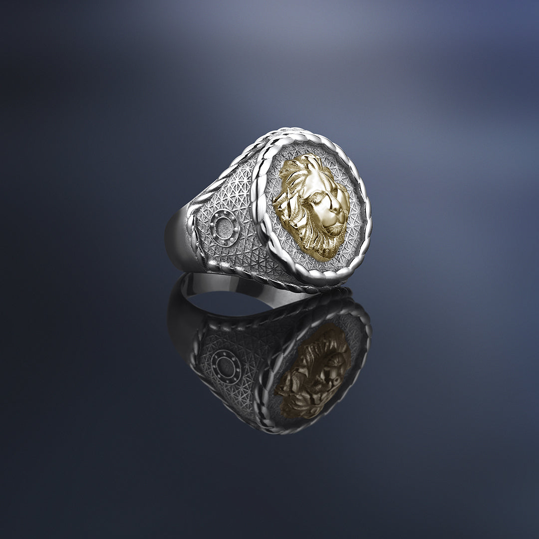 Imperial Leo Ring With Solid Gold