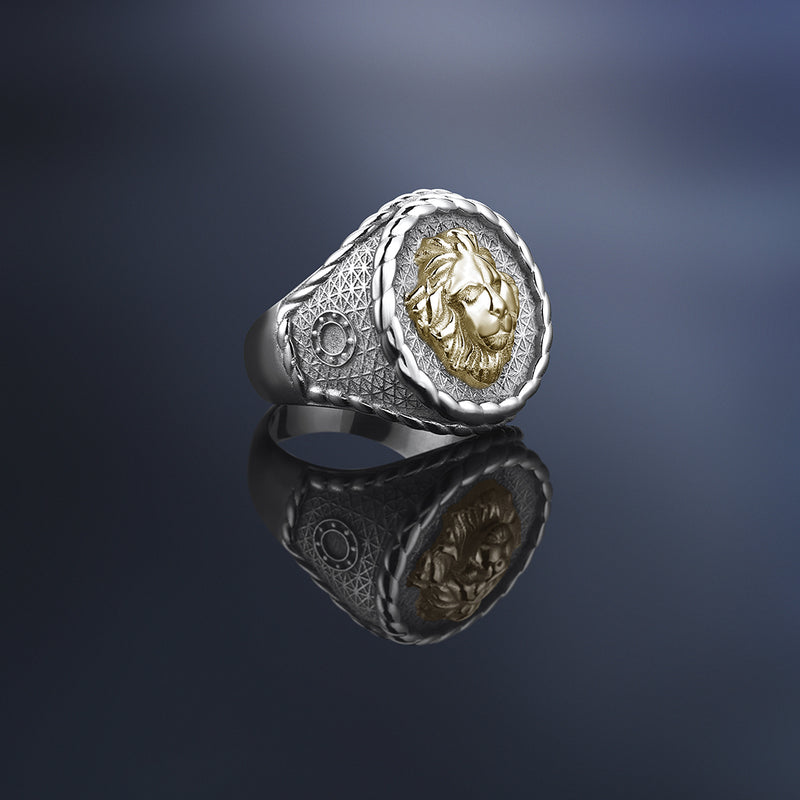 Imperial Leo Ring With Solid Gold by Atolyestone