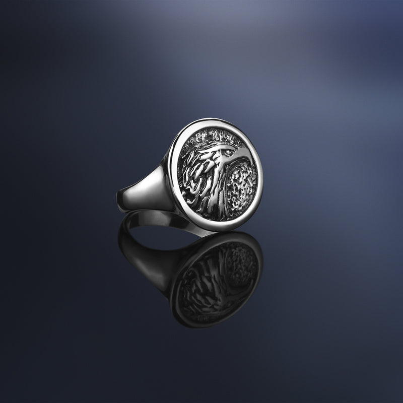 Eagle Ring - Solid Silver by Atolyestone