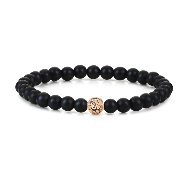 Women's Classic Beaded Bracelet - Solid Gold