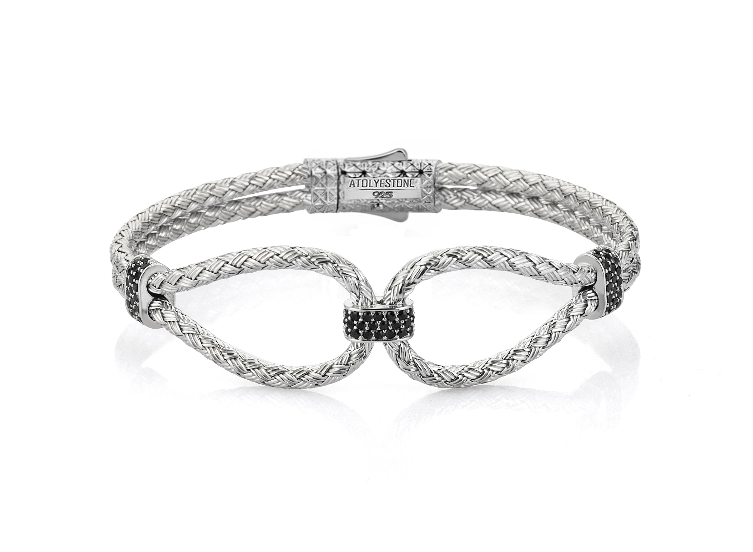 silver for f women bracelet infinity itm zeni top quality