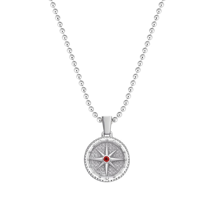 Compass Necklace with Ruby