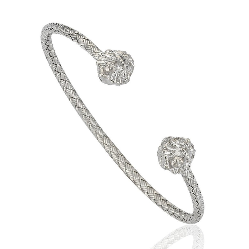 Mens Leo Cuff - White Gold