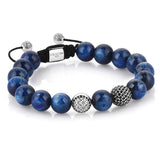 Women's Exclusive Signature Beaded Macrame Bracelet - Silver