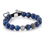 Exclusive Signature Beaded Macrame Bracelet - Silver