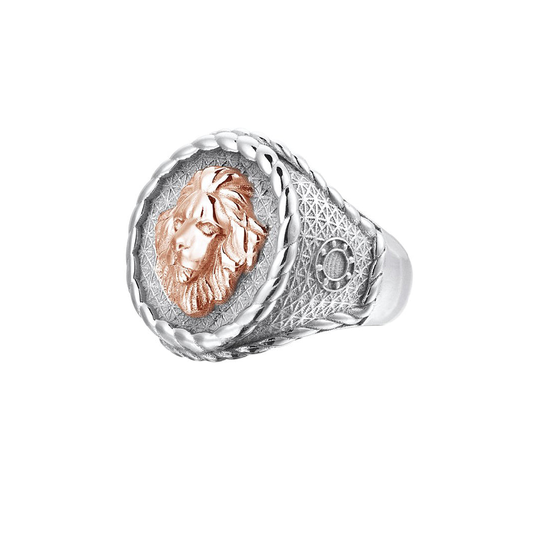 Imperial Leo Ring With Solid Gold - Rose Gold