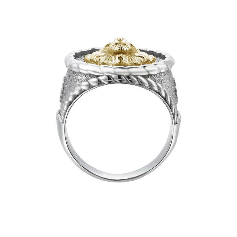 Mens Imperial Leo Ring With Solid Gold