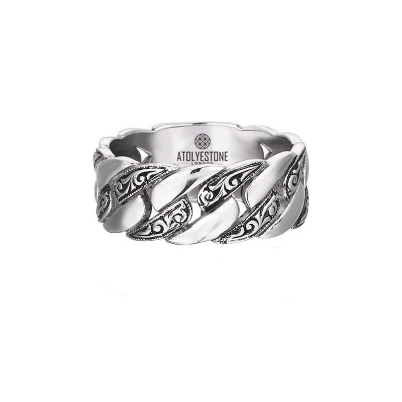 Classic Chain Ring - White Gold