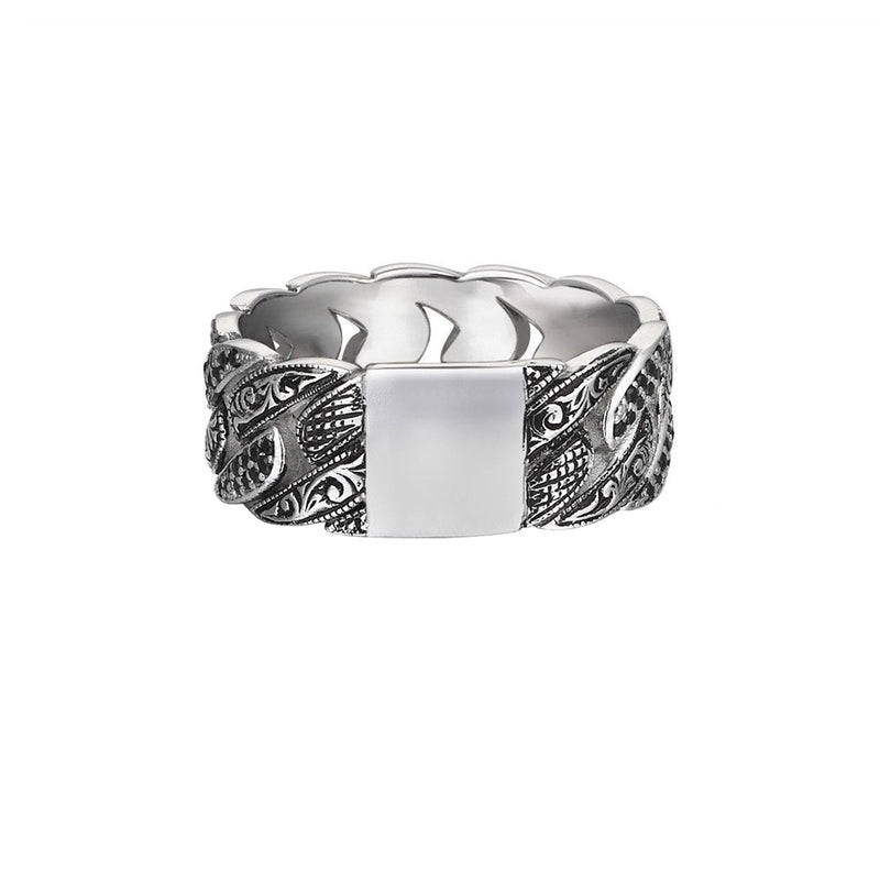Mens Classic Pave Chain Ring