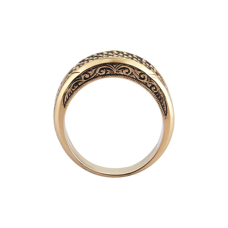 Mens Classic Pave Signet Ring