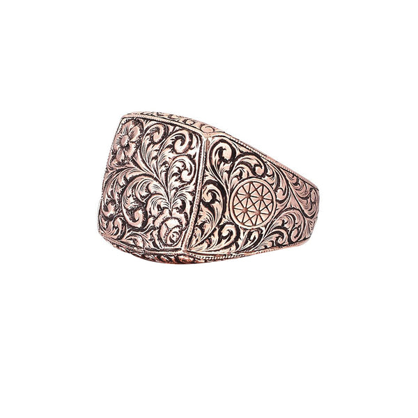 Mens Classic Ring - Rose Gold
