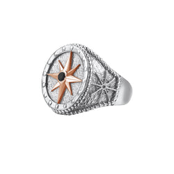 Compass Ring With Solid Gold - Rose Gold