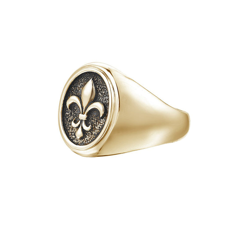 Fleur De Lis Ring - Yellow Gold