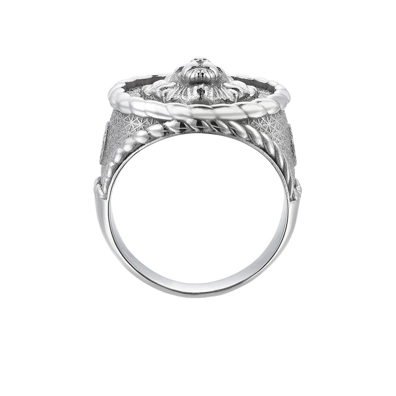 Imperial Leo Ring - Solid White Gold