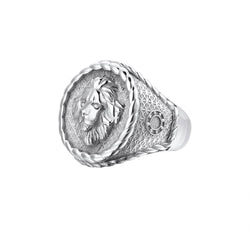Imperial Leo Ring - White Gold