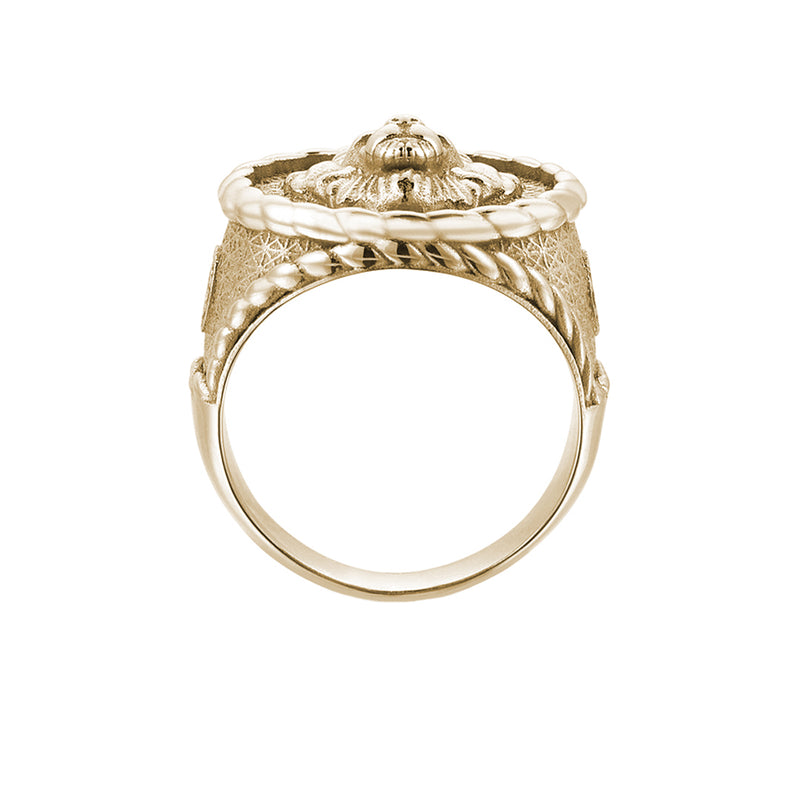 Imperial Leo Ring - Solid Yellow Gold