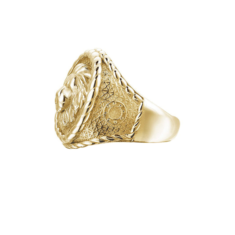 Imperial Leo Ring - Solid Gold for Men