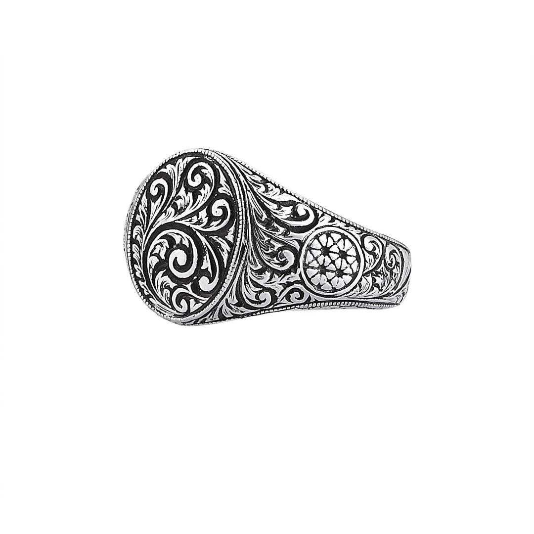 Oval Classic Ring - White Gold