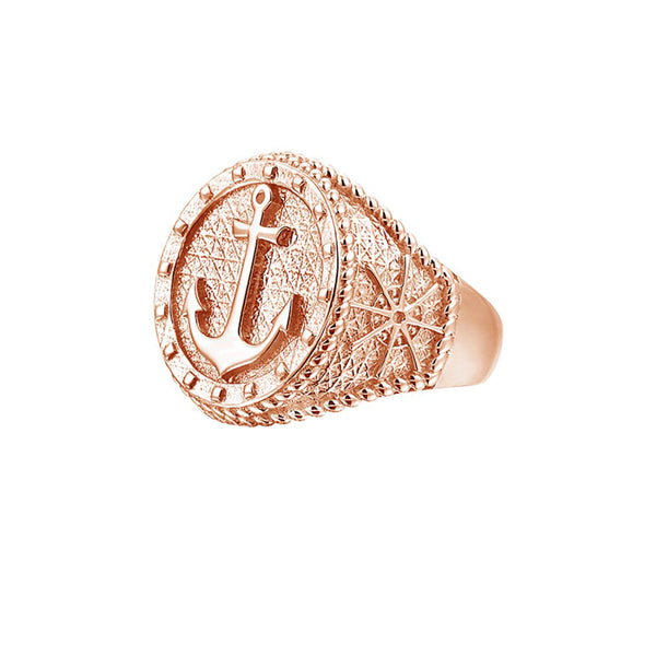 Sailor's Anchor Ring - Rose Gold