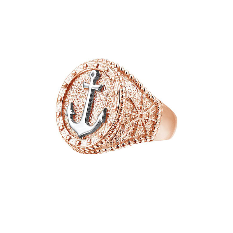 The Majestic Anchor Ring - Rose Gold