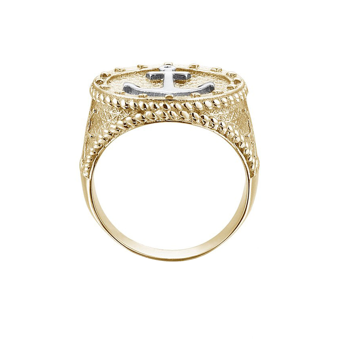 The Majestic Anchor Ring - Solid Gold