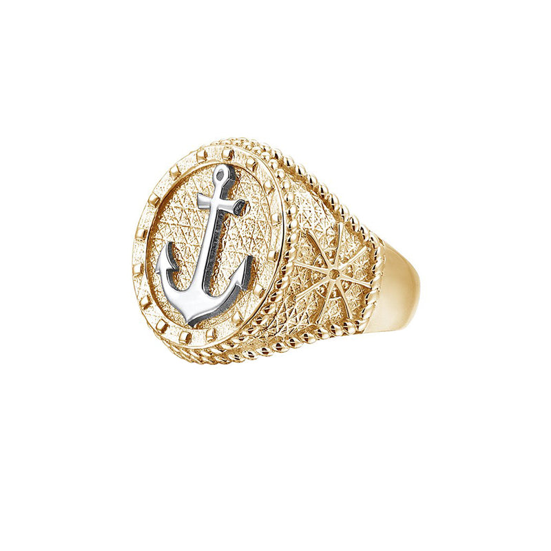 The Majestic Anchor Ring - Yellow Gold