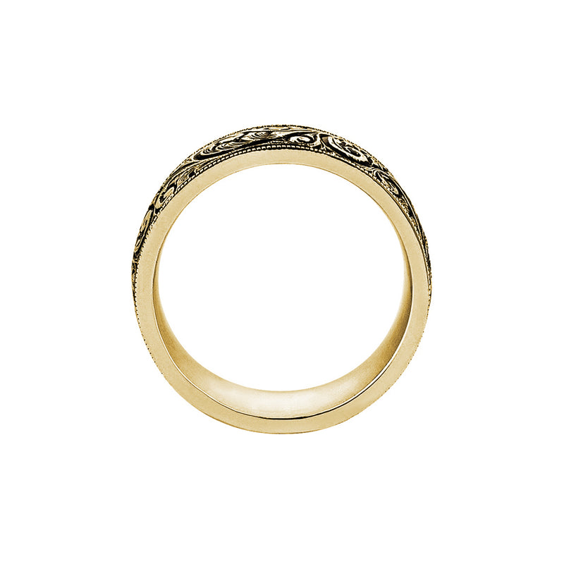 Mens Classic Band Ring - Yellow Gold