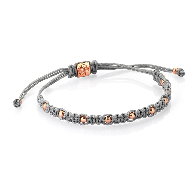 Women's 9 Balls Macrame - Rose Gold - Grey