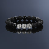 PREMIUM APEX BEADED BRACELET - MİXED BLACK