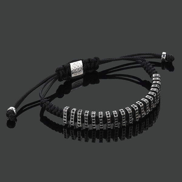 Flat Macrame Stoppers - Black