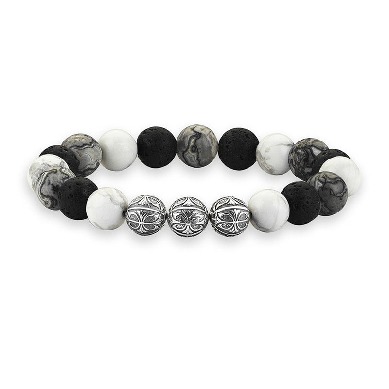 MENS PREMIUM MULTISTONE APEX BEADED BRACELET