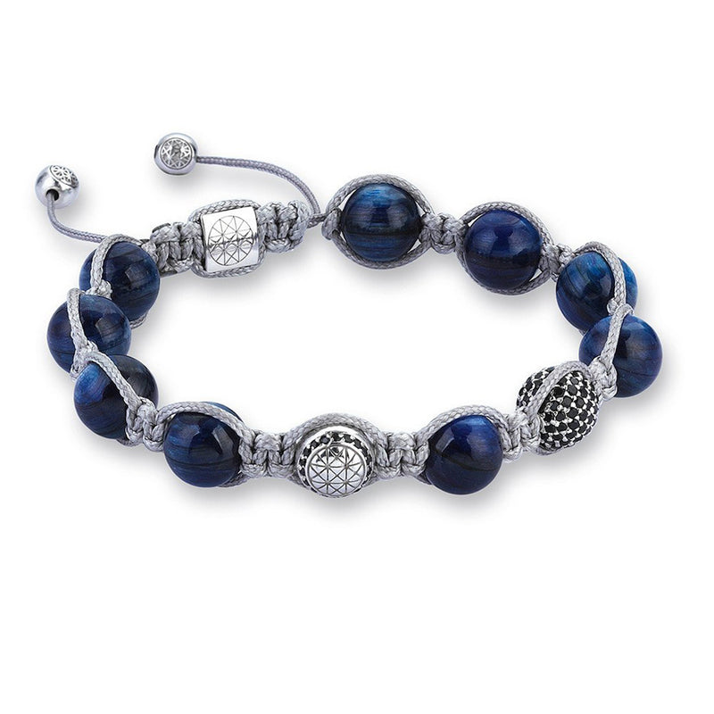 Exclusive Beaded Macrame Bracelet - Kyanite