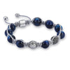 Exclusive Beaded Macrame Bracelet - Silver