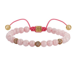 Women's Morganite Macrame Beaded Bracelet