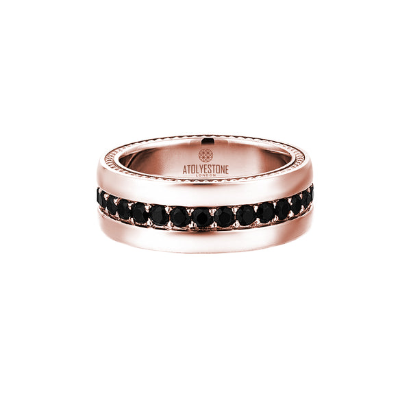 8.5 mm Pave Band Ring - Rose Gold
